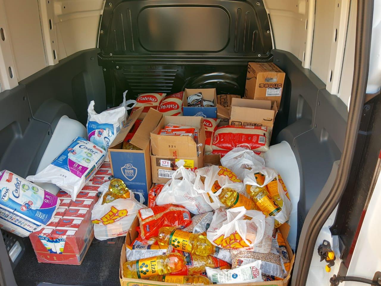 Santa Casa recebeu quase uma tonelada de alimentos de igrejas Católica.